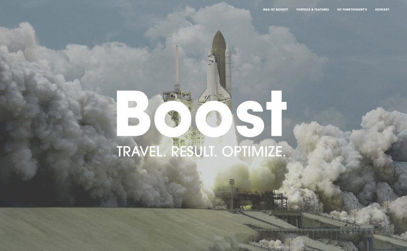 Boost das Steuerungstool für Online-Reisebüros
